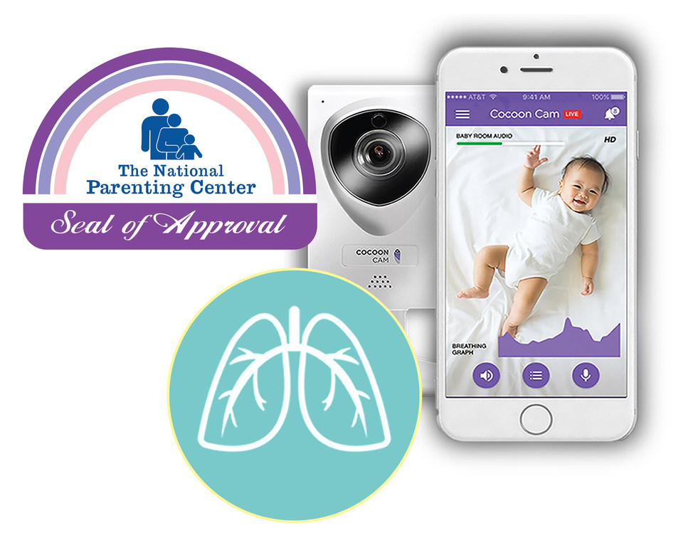 The Cocoon Cam baby monitor won The National Parenting Center Spring Seal of Approval