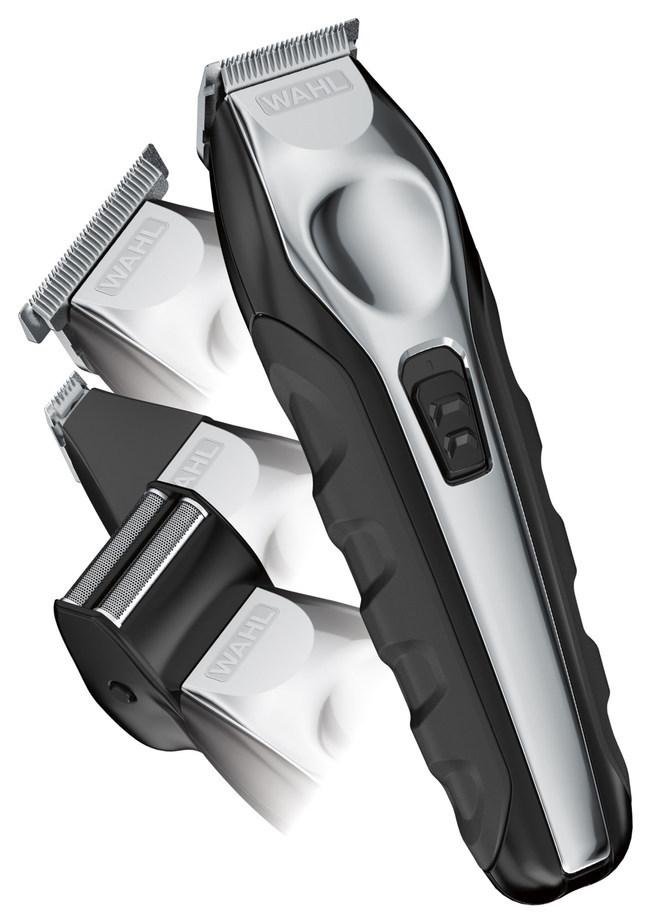 The Wahl Lithium Ion Multigroom trimmer features four heads to accommodate 13 cutting lengths – it's an all-in-one arsenal for trimming, shaving and detailing.