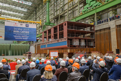 Crystal Debussy and Crystal Ravel Keel Laying