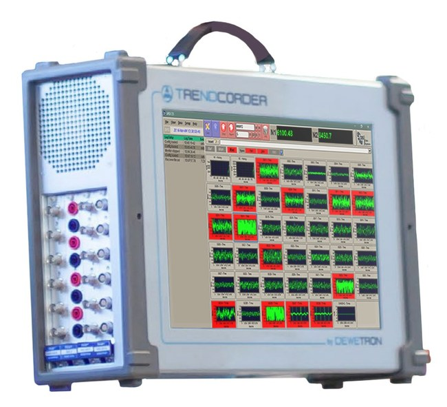 DEWETRON TRENDCORDER powered by APEX DS Dynamic Data Acquisition Software. APEX DS sets up and controls DEWETRON products for precision data acquisition and measurement. Display features everything needed for acquisition control and to understand signal health through real time frequency and time domain data monitoring. Add the DR monitoring upgrade for complete real time signal analysis.