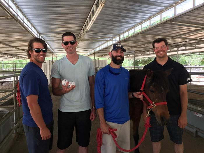 Los Angeles Dodgers Visit Gentle Barn