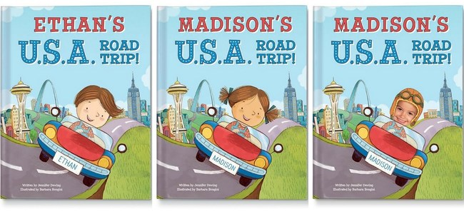 """My U.S.A. Road Trip"" is the latest personalized book from I See Me! The book takes children on an immersive learning adventure that will inspire exploration and discovery. Books can be personalized with a child's name, gender, and current state. A photo of the child's face also can be incorporated throughout the book's illustrations. For information about ordering this or the many other personalized books available from I See Me!, visit www.iseeme.com or call 1-877-744-3210."