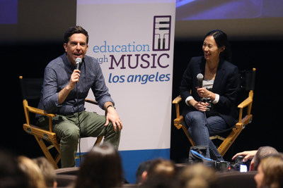 """Education Through Music-Los Angeles hosts an advanced screening of """"Captain Underpants: The First Epic Movie"""" with a Q&A featuring Actor Ed Helms, Voice of Captain Underpants, moderated by ETM-LA Executive Director Victoria Lanier at DreamWorks Animation Studios on May 22, 2017 in Glendale, California. Photo by Danny Moloshok. Moloshok Photography, Inc., danny@molophoto.com, etmla.org"""