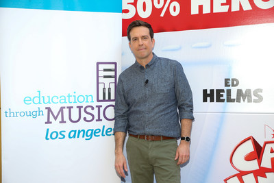"""Education Through Music-Los Angeles hosts an advanced screening of """"Captain Underpants: The First Epic Movie"""" with a Q&A featuring Actor Ed Helms at DreamWorks Animation Studios on May 22, 2017 in Glendale, California. Photo by Danny Moloshok. Moloshok Photography, Inc., danny@molophoto.com, etmla.org"""