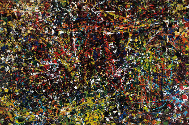 Vent du nord, the remarkable Jean Paul Riopelle canvas, sold for $7,438,750, a world record for the internationally collected artist (est. $1,000,000 - 1,500,000) (CNW Group/Heffel Fine Art Auction House)
