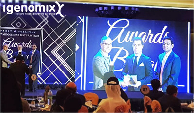 Mr. Fransisco Rodriguez, Business Development Director for Igenomix Middle East and India receives the Frost & Sullivan Genetic Laboratory Leadership Award for Igenomix across Middle East in 2017 (PRNewsfoto/Igenomix)