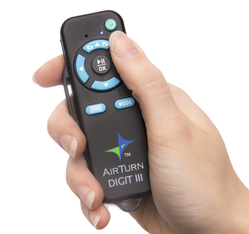 New DIGIT III Multi-Function Remote for Computers and Tablets provides 6 Modes to control everything from presentations to camera selfies, iTunes and more!