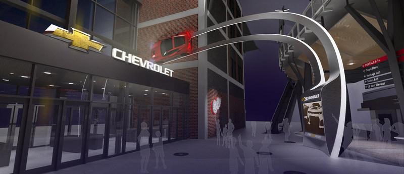 Chevrolet is a Landmark Sponsor at Little Caesars Arena, which will open in September, 2017.