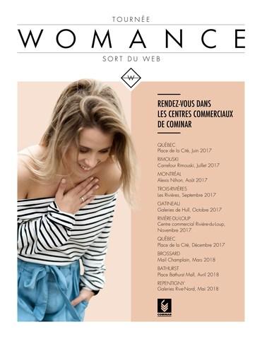 Calendrier de tournée Womance (Groupe CNW/FONDS DE PLACEMENT IMMOBILIER COMINAR)