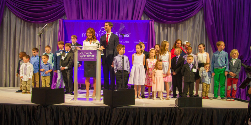 Sen.Tom Cotton and Anna Cotton shared the story of their son's birth and stay in the NICU surrounded by local March of Dimes Ambassadors at the opening of the March of Dimes Gourmet Gala in Washington D.C. on May 23, 2017. More than 600 attendees, including 50 members of Congress, set politics aside to raise about $1.1 million dollars to benefit March of Dimes research and other programs for mom and baby health. Learn more at marchofdimes.org. (Photo Terry Brennan, The Umbrella Syndicate)