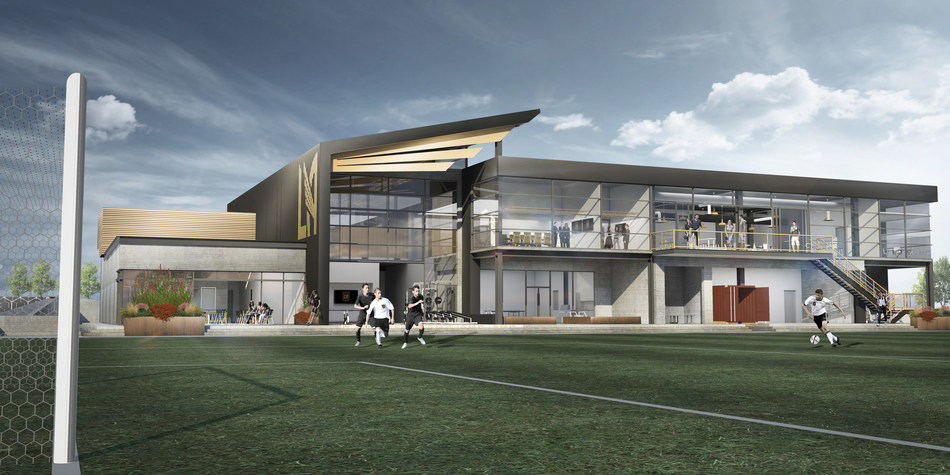 Rendering of LAFC training facility at Cal State LA.