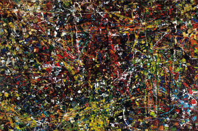 Vent du nord, remarquable toile de Jean-Paul Riopelle, a été vendue pour 7 438 750 $, établissant par le fait même un record mondial pour cet artiste, dont les œuvres se retrouvent aux quatre coins du monde (elle était estimée entre 1000000 $ et 1500000 $) (Groupe CNW/Maison de ventes aux enchères Heffel)