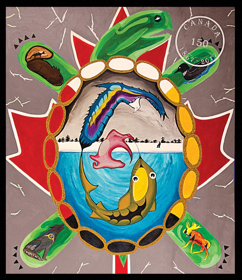 Urban Aboriginal School - Sault-Ste-Marie - Ice-Fishing (CNW Group/VIBE Arts)
