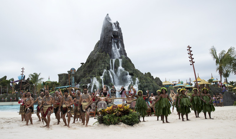 """Today, Universal's Volcano Bay officially opened becoming Universal Orlando's third amazing theme park. The park's first guests gathered inside the new water theme park to enjoy an authentic South Pacific dedication ceremony commemorating the opening of Volcano Bay. The ceremony featured special performances by an array of Maori entertainment, ranging from water dancers to """"Haka"""" war dancers."""