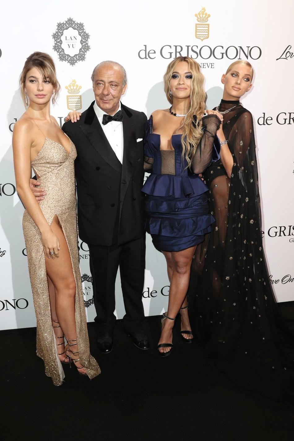 de GRISOGONO Cannes 2017 Camila Morrone & Fawaz Gruosi & Rita Ora & Elsa Hosk (PRNewsfoto/de GRISOGONO)