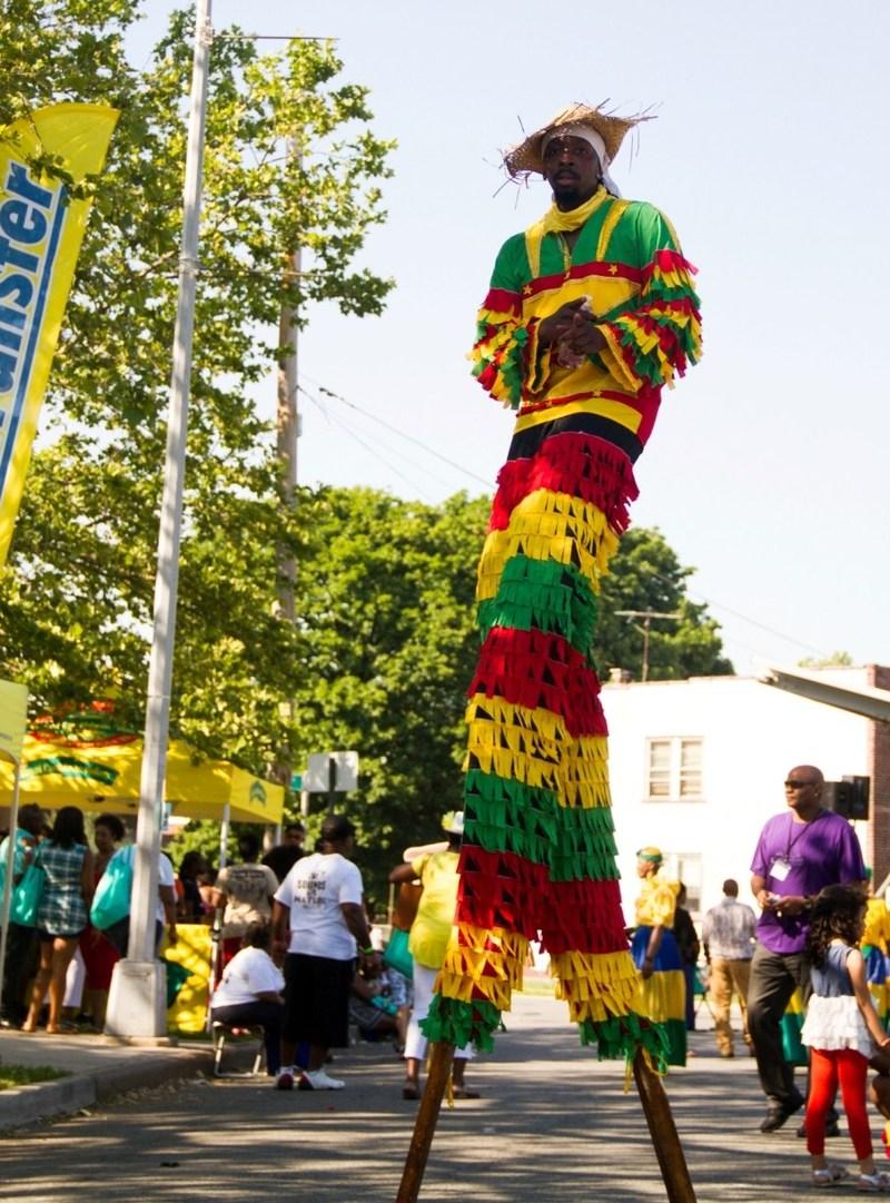 Stilt walkers will return at the 2017 Bankra Caribbean Folk Festival in Jamaica Queens on Saturday June 3.