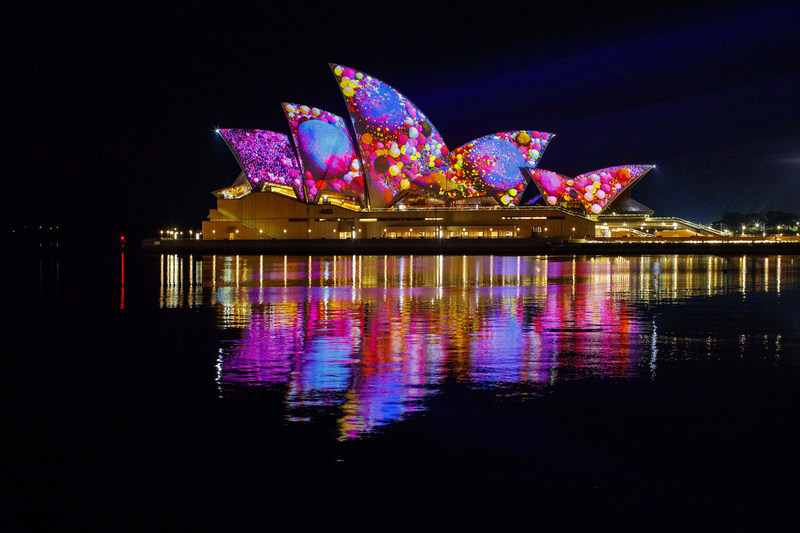 Vivid Sydney 2017, Lighting the Sails: Audio Creatures image credit Destination NSW