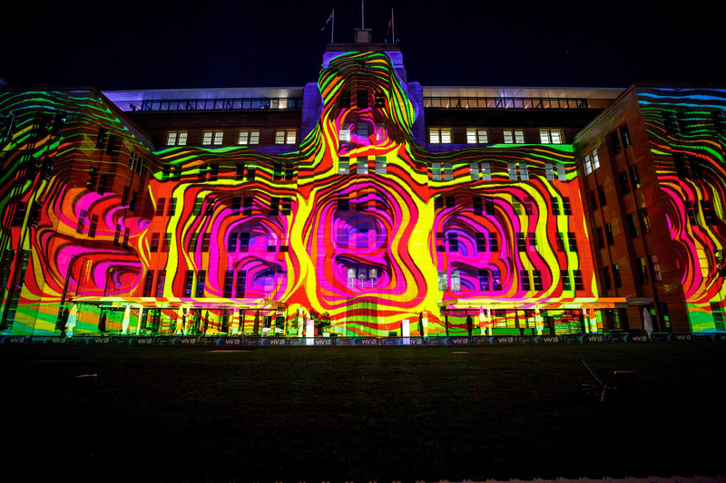 Vivid Sydney 2017, Museum of Contemporary Art Australia, Organic Vibrations credit Destination NSW