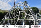Form Found Design (FFD) combined Helix Steel TSMR and CTS Rapid Set to realize the MARS Pavilion