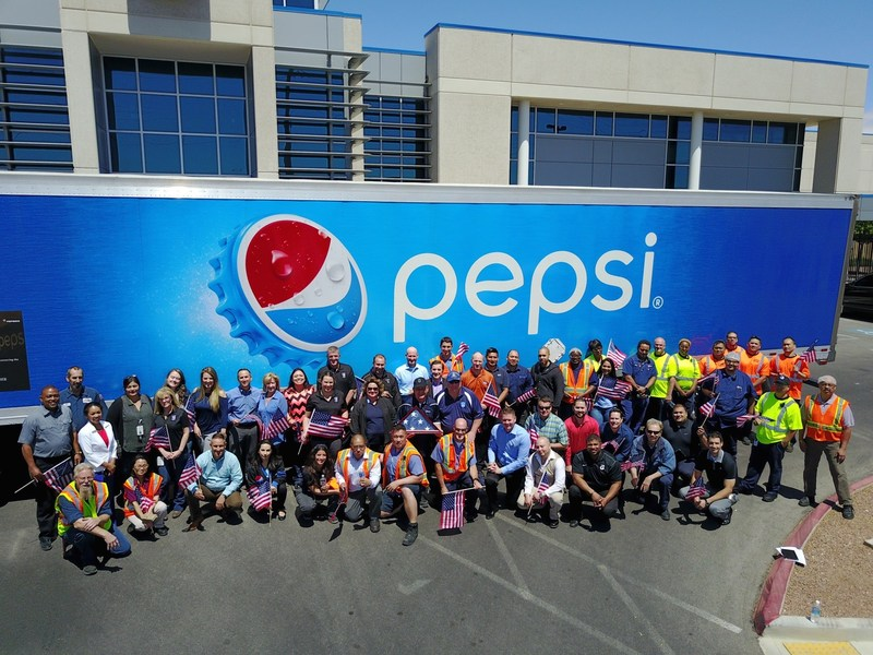 Pepsi members show their support in Las Vegas, NV