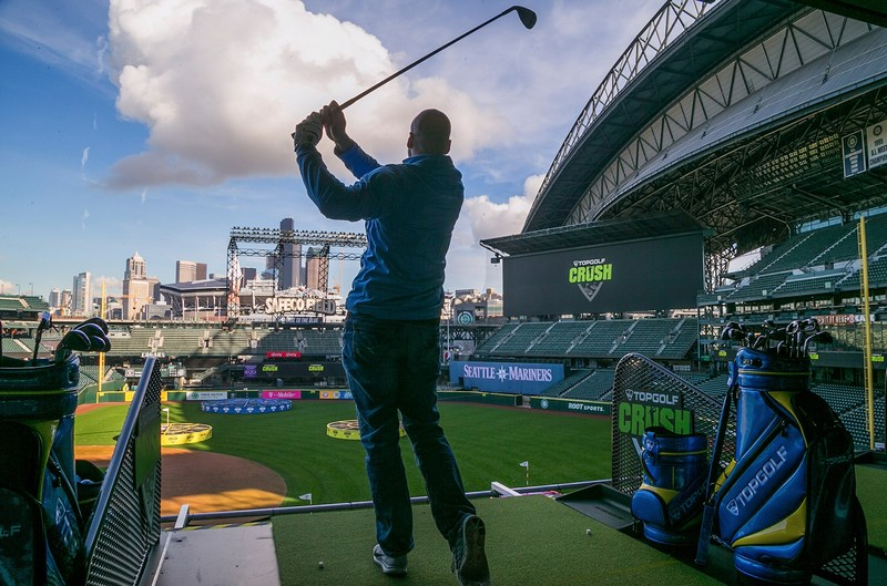 Topgolf Crush launched at Safeco Field in Seattle in February.