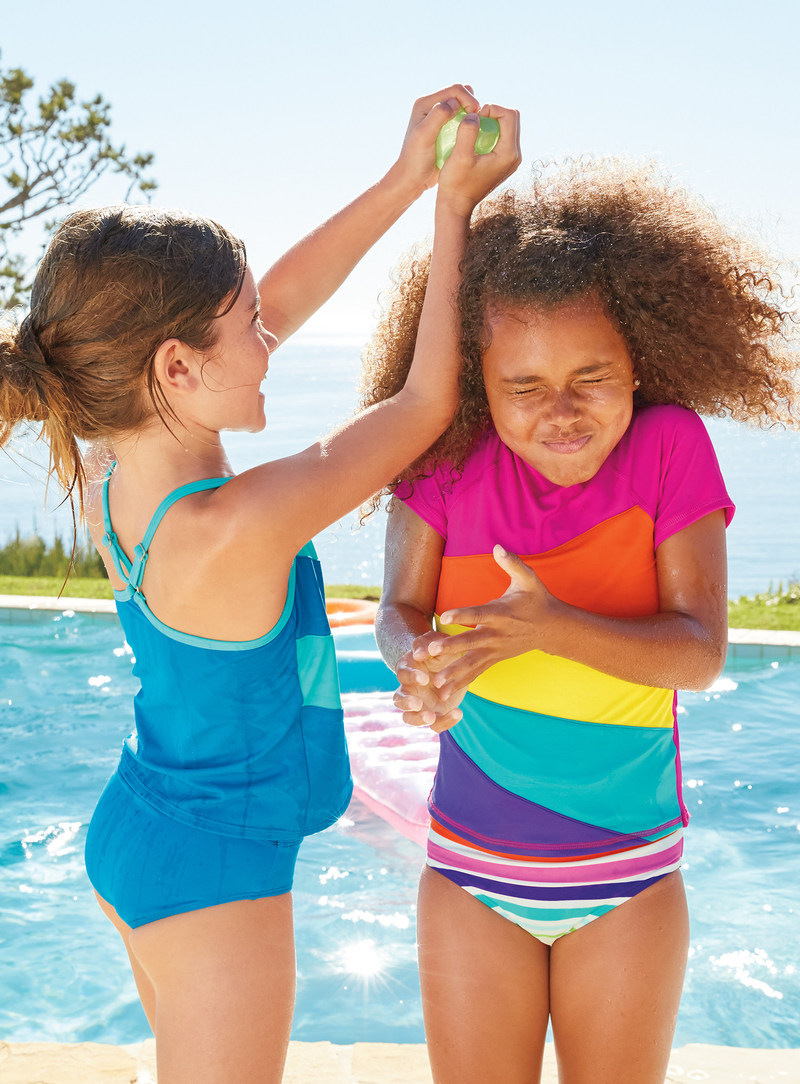 Get ready for sun-soaked summer adventures with Lands' End's new kids' swim collection.
