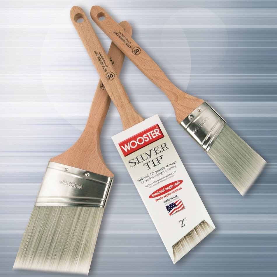 Wooster Adds Four Semioval Angle Sash Paintbrushes to Silver Tip® Line