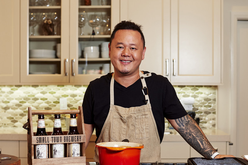 "Food Network's ""Cutthroat Kitchen"" Chef Jet Tila celebrates summer grilling with a series of original barbecue sauce recipes made with Not Your Father's flavored brews"