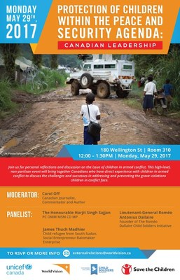 Protection of Children Within the Peace and Security Agenda: Canadian Leadership (CNW Group/UNICEF Canada)