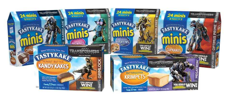 "Tastykake celebrates release of the new movie ""Transformers: The Last Knight,"" directed by Michael Bay, with limited edition package design and nationwide sweepstakes"