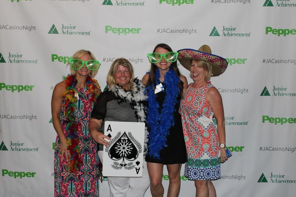 Kelly Bublewicz, Wendy Tarach, Samantha Wallace and Karen Stamborski from Pepper Construction of Ohio