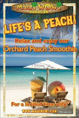 Maui Wowi's Orchard Peach Smoothie is back for a limited time only at participating locations.
