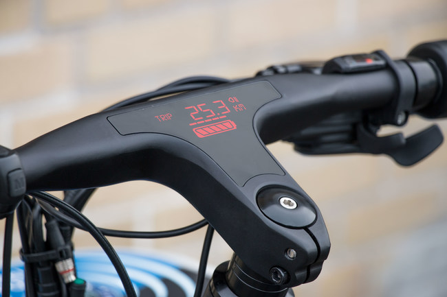 The EC1 will have a built in LED display directly to the handlebars!
