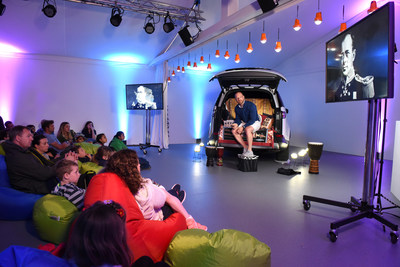Land Rover ambassador and Polar explorer Ben Saunders hosts an interactive session at Hay Festival in the Storytelling Nook to teach children about the power of solar technology (PRNewsfoto/Jaguar Land Rover)