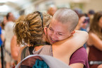 The Leucan Shaved Head Challenge: Hundreds of individuals rallied around the cause today! (CNW Group/Leucan)