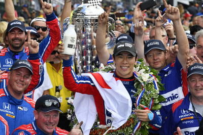 Takuma Sato won the Indianapolis 500 on Sunday as Honda drivers claimed four of the top five finishing positions at the Indianapolis Motor Speedway.