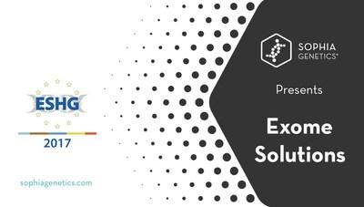 Sophia Genetics Presents Exome Solutions (PRNewsfoto/Sophia Genetics)