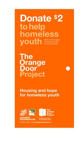 Buy a $2 paper orange door on your next Home Depot visit to help give hope to homeless youth. (CNW Group/The Home Depot of Canada Inc.)