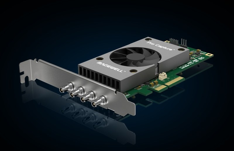 Magewell's flexible new Pro Capture SDI 4K Plus video capture card supports single-link 12G-SDI, dual-link 6G-SDI or quad-link 3G-SDI connectivity.