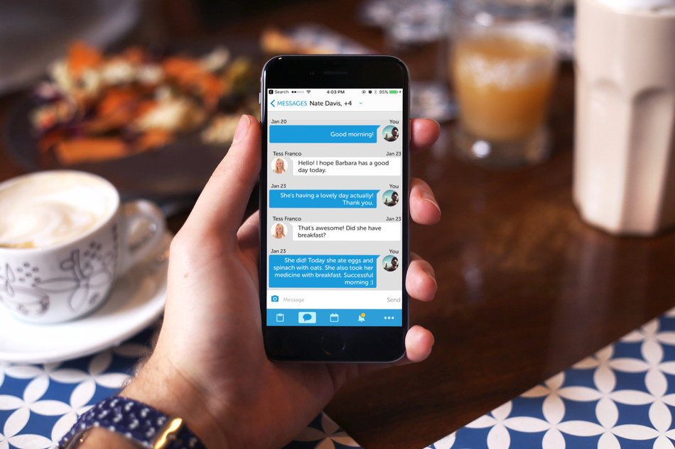 Login to the Family App to send messages to staff and family, get updates on your loved one wherever you are.