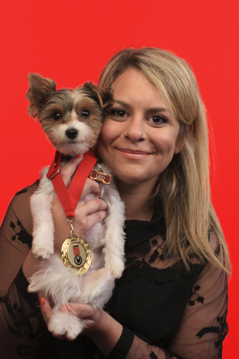 Purina Animal Hall of Fame 2017 Inductee Leo with owner Brittany Cosgrove (CNW Group/Nestlé Purina PetCare Canada)