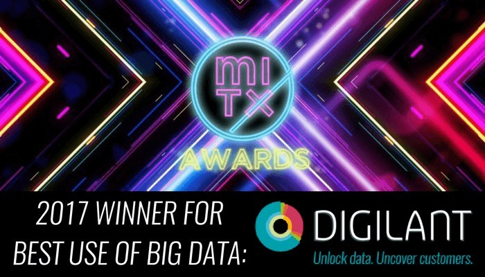 Digilant has been selected as a winner in the category of Best Use of Big Data at the 2017 MITX Awards for their Consumer Persona Product.