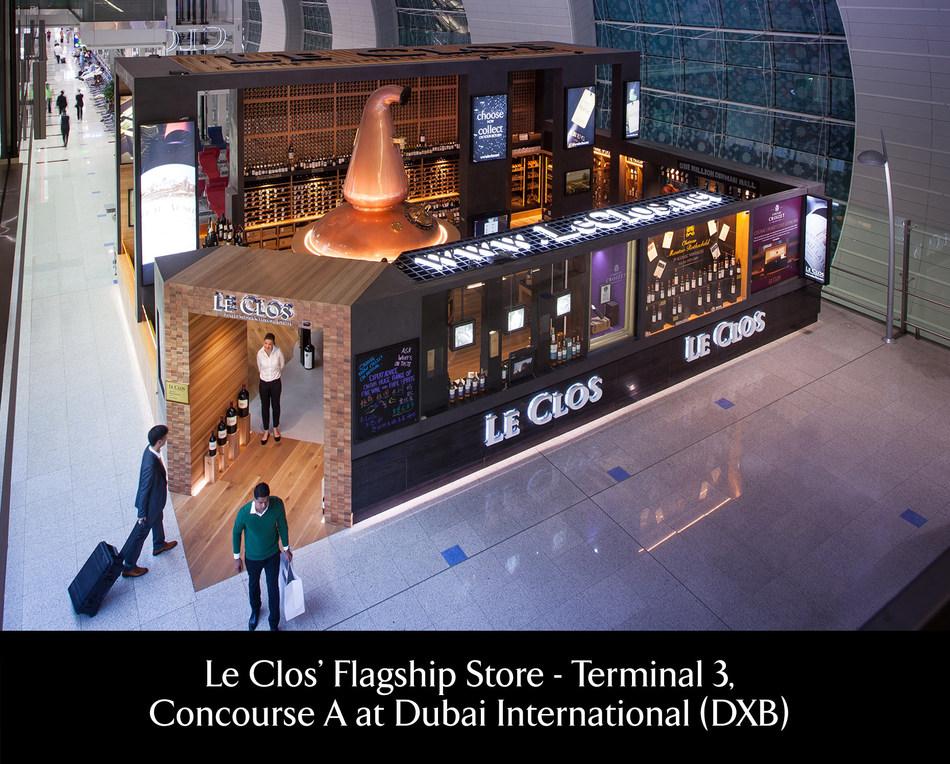 Le Clos' Flagship Store, Terminal 3 Concourse A, Dubai International (DXB) (PRNewsfoto/Le Clos)