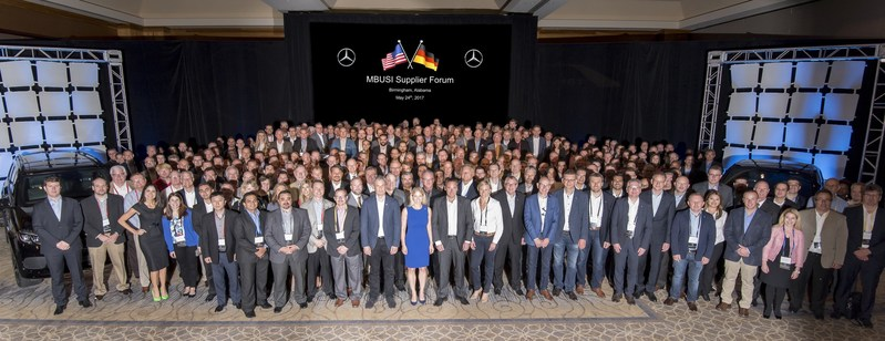 Mercedes-Benz Cars leadership and suppliers for the Alabama plant's next generation SUVs gather for 2017 Supplier Forum.