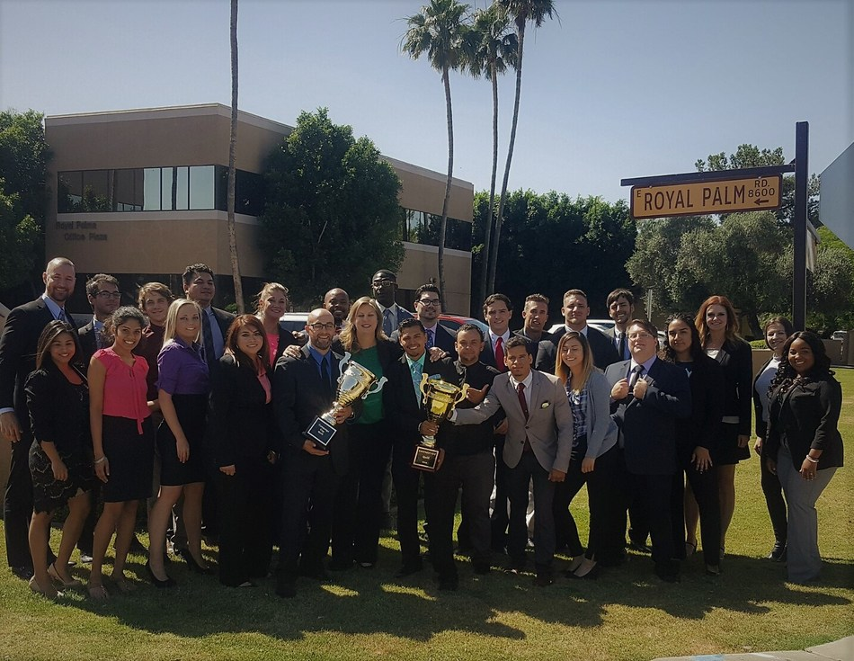 National sales recognition goes to EVC Scottsdale for first quarter excellence.