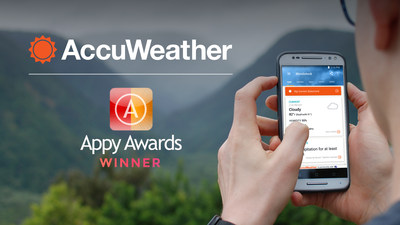 AccuWeather winner of 2017 Appy Award - Weather