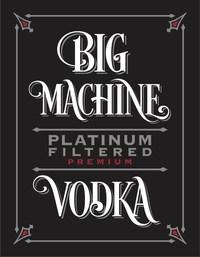 Big Machine Platinum Filtered Premium Vodka Logo