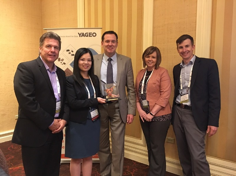 Yageo Presents Digi-Key with Online Distributor of the Year Award