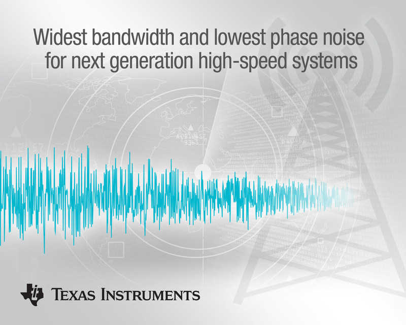 TI enables the widest bandwidth and lowest phase noise for next-generation high-speed systems