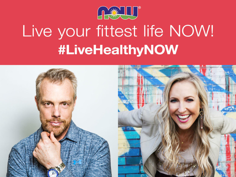 Today leading natural products manufacturer NOW®, in partnership with two of the country's top wellness experts – celebrity fitness trainer Gunnar Peterson and nutritionist and author Dawn Jackson Blatner –launched the #LiveHealthyNOW campaign at livehealthynowpledge.com.  There, people can pledge to live their healthiest lifestyle NOW and recharge their summer fitness routines with access to exclusive expert content, including seven new total-body workouts, 30 daily wellness tips, and healthy recipes.